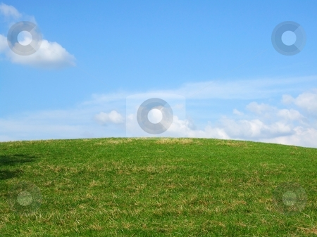 Background stock photo, Background with grass and blue sky by Juliet Photography