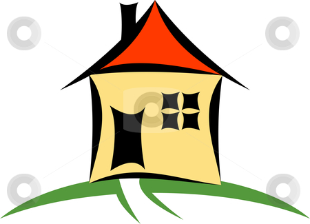 House stock vector clipart, A vector house cartoon illustration by Oxygen64