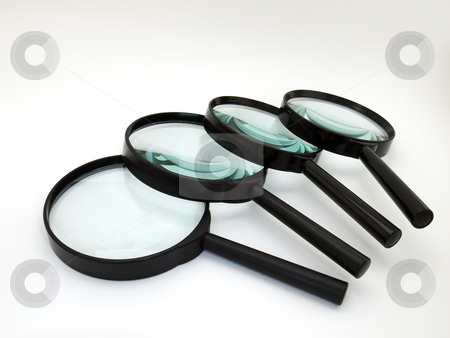 Magnifiers in order stock photo,  by Sinisa Botas
