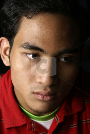 Serious asian man stock photo, Serious asian man by Wong Chee Yen