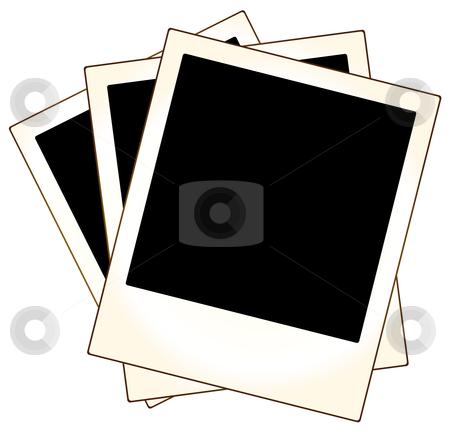 Polaroid photo frames stock vector clipart, Polaroid photo frames ready to put your photo by Oxygen64