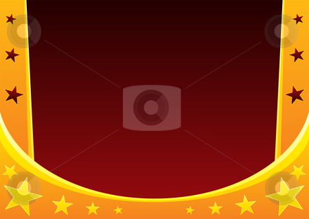 Circus abstract background stock vector clipart, Gold curtain in circus useful as abstract background by Oxygen64