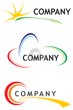 Corporate logo templates stock vector clipart, Three logo design templates for your company by Oxygen64