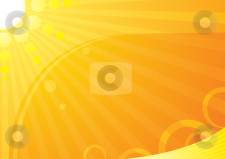 Summer time stock vector clipart, Very hot summer background by Oxygen64