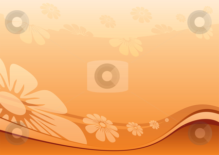 Desert flowers stock vector clipart, Summer flower background created in desert colors by Oxygen64