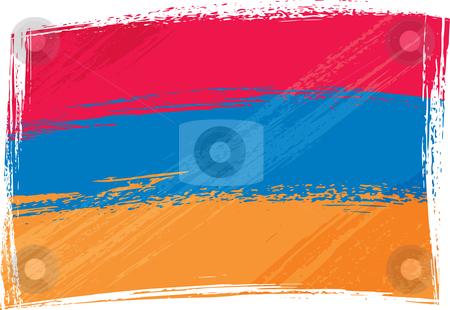 Grunge Armenia flag stock vector clipart, Armenia national flag created in grunge style by Oxygen64