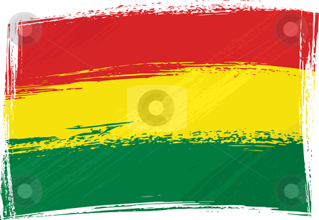 Grunge Bolivia flag stock vector clipart, Bolivia national flag created in grunge style by Oxygen64