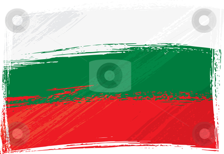 Grunge Bulgaria flag stock vector clipart, Bulgaria national flag created in grunge style by Oxygen64
