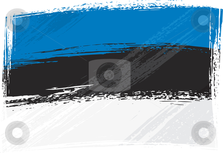 Grunge Estonia flag stock vector clipart, Estonia national flag created in grunge style by Oxygen64