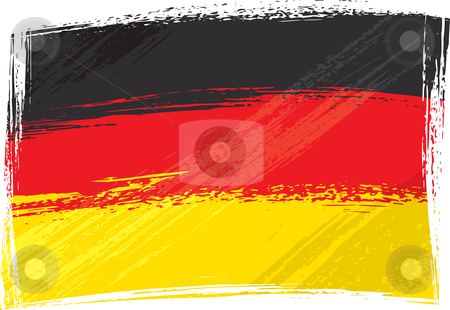 Grunge Germany flag stock vector clipart, Germany national flag created in grunge style by Oxygen64