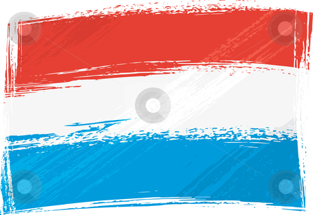 Grunge Luxembourg flag stock vector clipart, Luxembourg national flag created in grunge style by Oxygen64