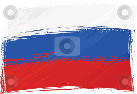 Grunge Russia flag stock vector clipart, Russia national flag created in grunge style by Oxygen64