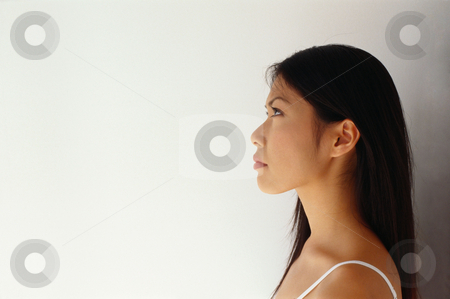 MPIXIS599015 stock photo, Profile of a young woman by Mpixis World