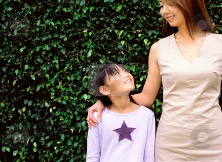 MPIXIS593038 stock photo, Portrait of mother and daughter by Mpixis World