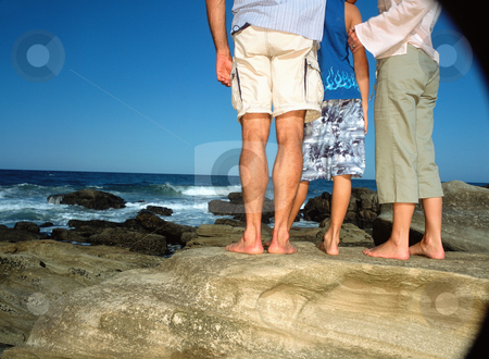 MPIXIS550148 stock photo, Family looking out to sea by Mpixis World