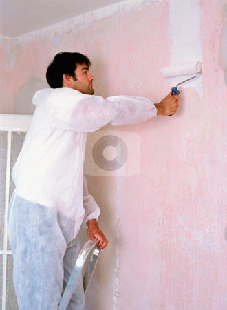 MPIXIS574034 stock photo, Man decorating a room by Mpixis World
