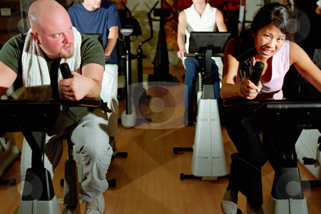 MPIXIS564043 stock photo, Working out at the gym by Mpixis World