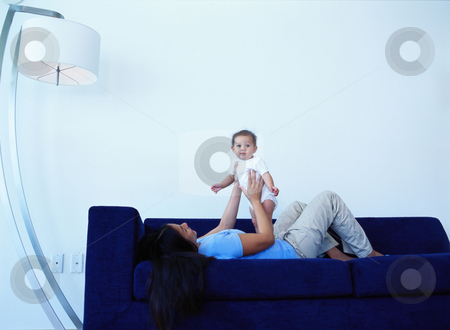 MPIXIS589037 stock photo, Mother playing with baby by Mpixis World