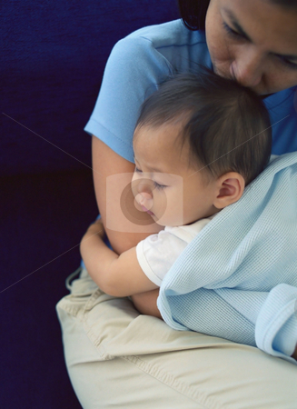 MPIXIS589051 stock photo, Mother holding sleeping baby by Mpixis World