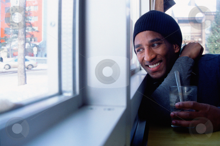 MPIXIS580021 stock photo, Young man looking outside by Mpixis World