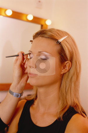MPIXIS550335 stock photo, Woman being made-up by Mpixis World