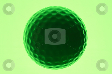 Silhouette of a golf ball with a green background. stock photo, Silhouette of a golf ball with a green background. by Stephen Rees