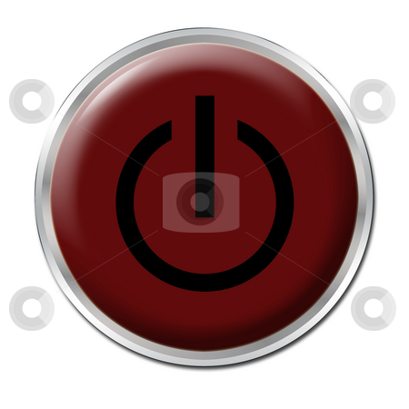 On/Off Button stock photo, Red button with the symbol