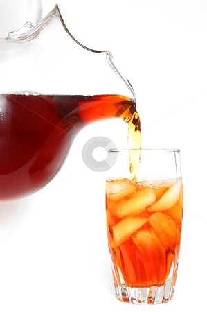 Iced Tea stock photo, A cold glass of traditional southern iced tea. by Robert Byron