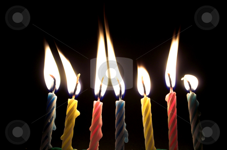 Birthday Candles stock photo, Several wax candles typically used for birthday celebrations. by Robert Byron