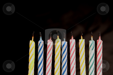 Birthday Candles stock photo, Several candles typically used for birthday celebrations. by Robert Byron