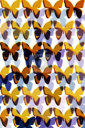Butterfly collection stock photo, Butterflies and their shadows textured in a pattern by Wino Evertz