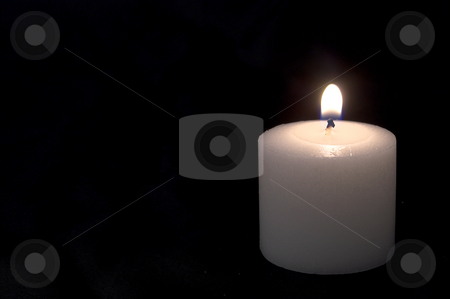 Candles stock photo, Two candles burning for who knows why. by Robert Byron
