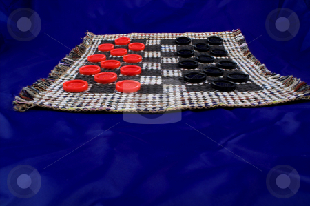 Checkers stock photo, The old tried and try original game of checkers. by Robert Byron