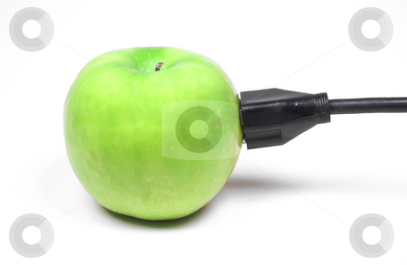 Apple Power stock photo, Behold the power of the juicy green apple. by Robert Byron