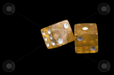 Dice stock photo, Dice used for leisure games and or gambling. by Robert Byron