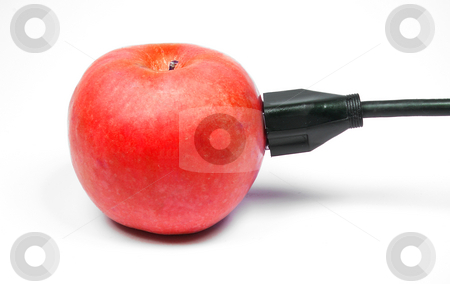 Apple Power stock photo, Behold the power of the juicy red apple. by Robert Byron