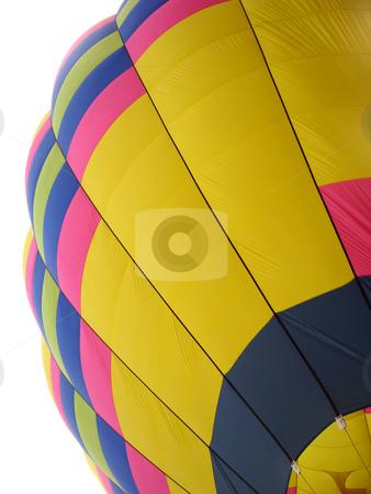 Hot Air Balloon Segment stock photo, Segment of a hot air balloon shown against white background by Denis Radovanovic