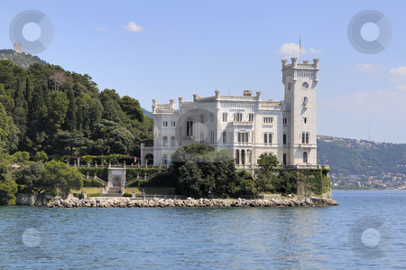 Miramare Castle in Trieste (Italy) stock photo, Trieste (Italy): Miramare Castle with park by Massimiliano Leban