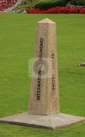 Obelisk Border Marker stock photo, Obelisk border marker between the United States and Canada. by Steve Stedman