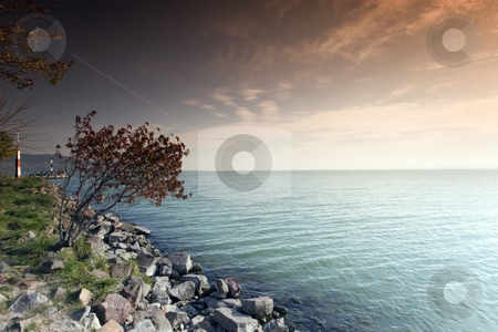 Lake Balaton, Hungary stock photo, Lake Balaton, Hungary by Fesus Robert