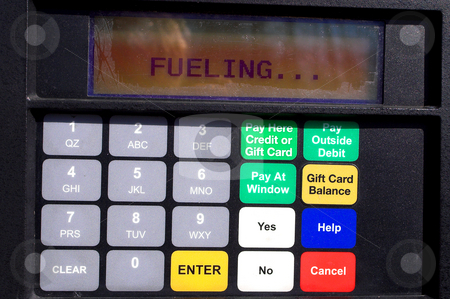 Gas Pump Display stock photo, The display on a gas pump at a service station. by Robert Byron