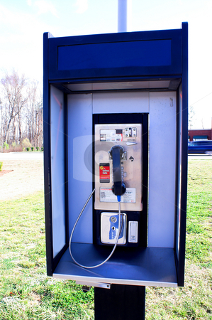Pay Phone stock photo, A payphone - used by folks in the days pror to cell phones. by Robert Byron