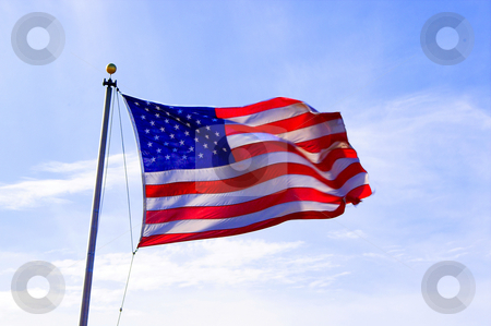 American Flag stock photo, The flag of the United States of America. by Robert Byron