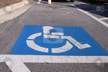 Handicap Parking stock photo, A parking space for the legally hadicapped. by Robert Byron