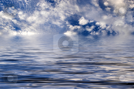 Cloudy Ocean stock photo, A coudy day over the ocean. by Robert Byron