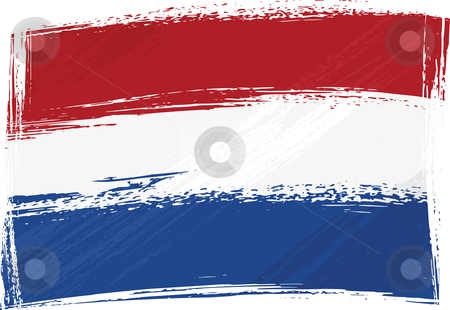Grunge Netherlands flag stock vector clipart, Netherlands national flag created in grunge style by Oxygen64