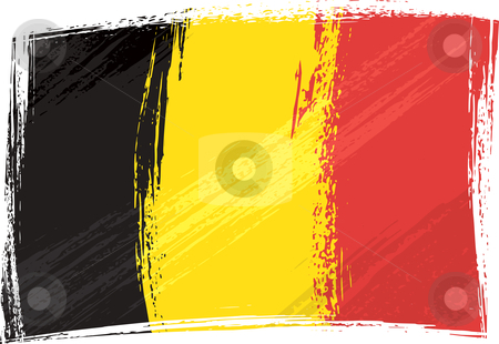 Grunge Belgium flag stock vector clipart, Belgium national flag created in grunge style by Oxygen64