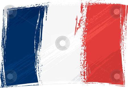 Grunge France flag stock vector clipart, France national flag created in grunge style by Oxygen64