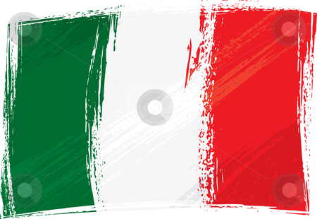 Grunge Italy flag stock vector clipart, Italy national flag created in grunge style by Oxygen64