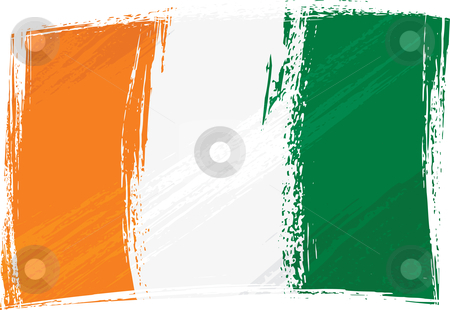 Grunge Cote dIvoire flag stock vector clipart, Cote dIvoire national flag created in grunge style by Oxygen64